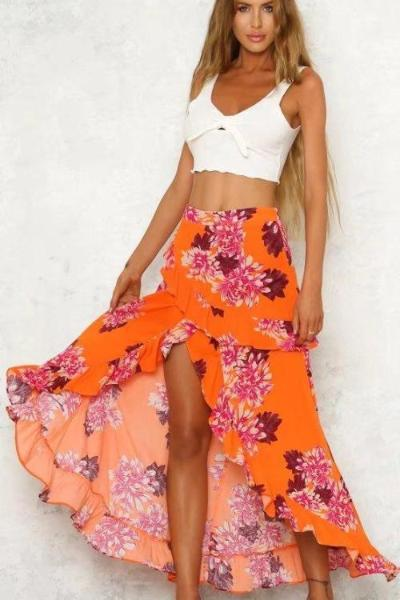 Margot Asymmetrical Maxi Skirt