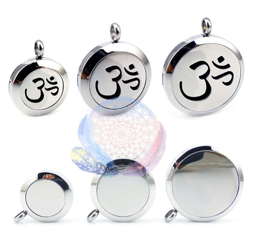 Om Mantra 25-30mm Aromatherapy Diffuser Locket, Necklace, Vicky-Home Jewelry Factory Wholesale Store, lovepeaceboho