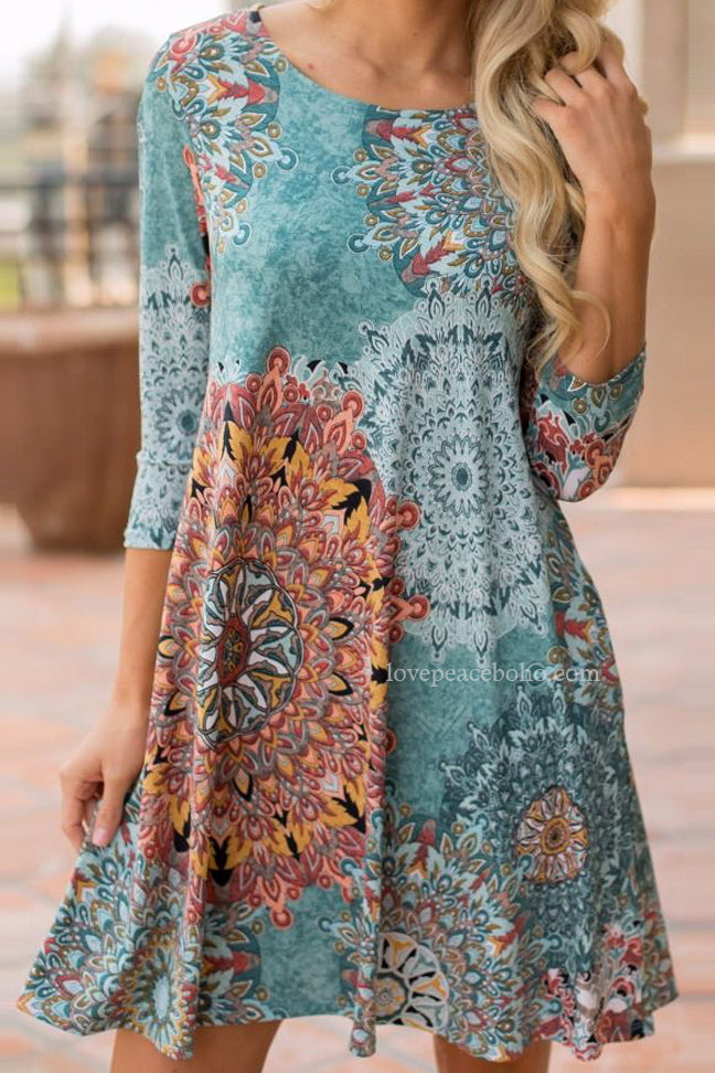 Tiffani Vintage Boho Dress