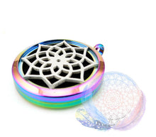 Load image into Gallery viewer, Lotus 30mm Stainless Steel Essential Oil Diffuser Locket