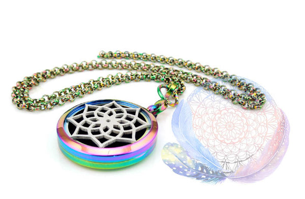 Lotus 30mm Stainless Steel Essential Oil Diffuser Locket