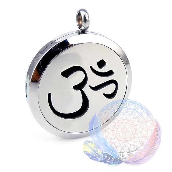 Om Mantra 25-30mm Aromatherapy Diffuser Locket