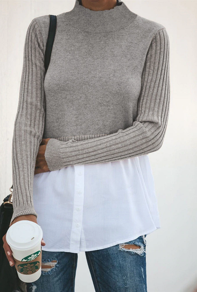 Ady Knit Splice Top