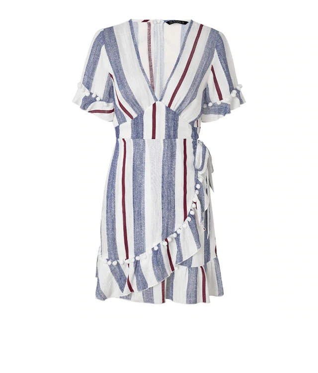 Aella Boho Striped Dress