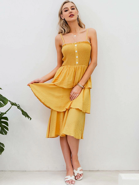 Aidadene Layered Hem Dress