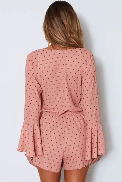Ariane Dotted Playsuit