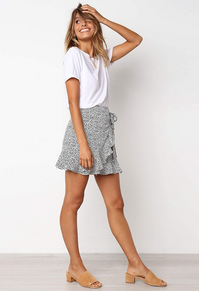 Arien Ruffled Wrap Skirt