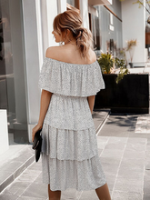 Load image into Gallery viewer, After Dark Off-Shoulder Tiered Dress