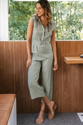 Audrie Straight Casual Jumpsuit