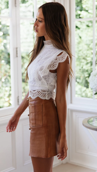 Aylana Lace Crochet Top