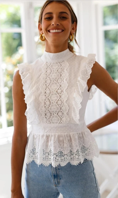 Bailey Open Back Lace Top