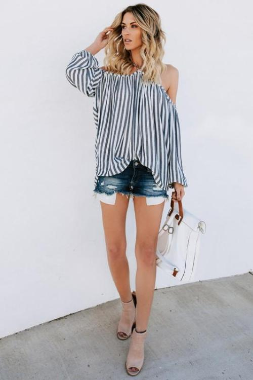 Lopez Striped Halter Top
