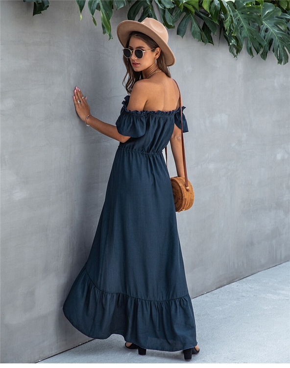 Camila Frilled Off Shoulder Dress