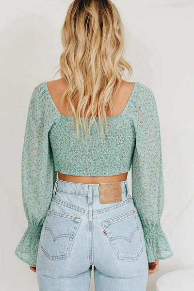 Cerena Floral Cropped Top