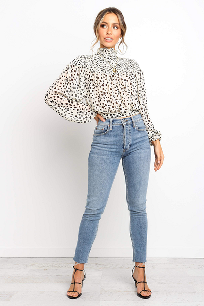 Cheska Polka Dot Blouse