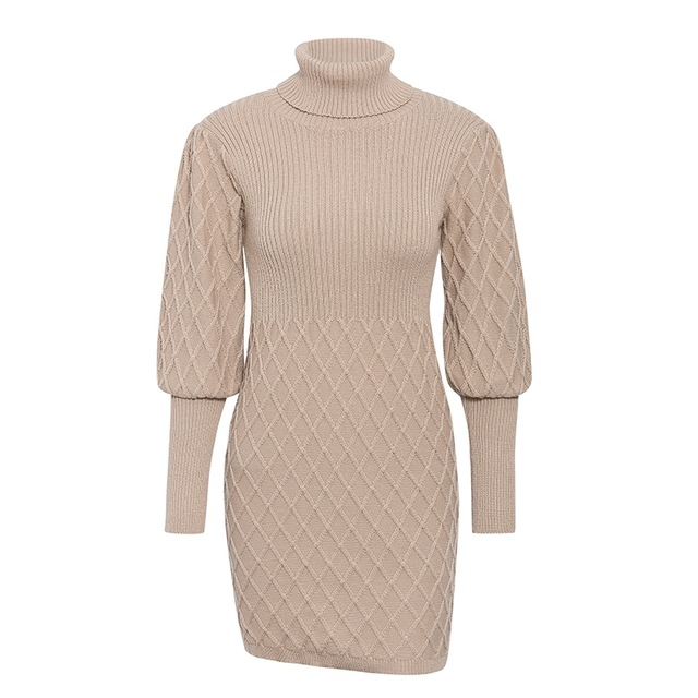 Clariz Cable Knit Sweater Dress
