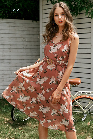 Danieli Floral Belted Dress