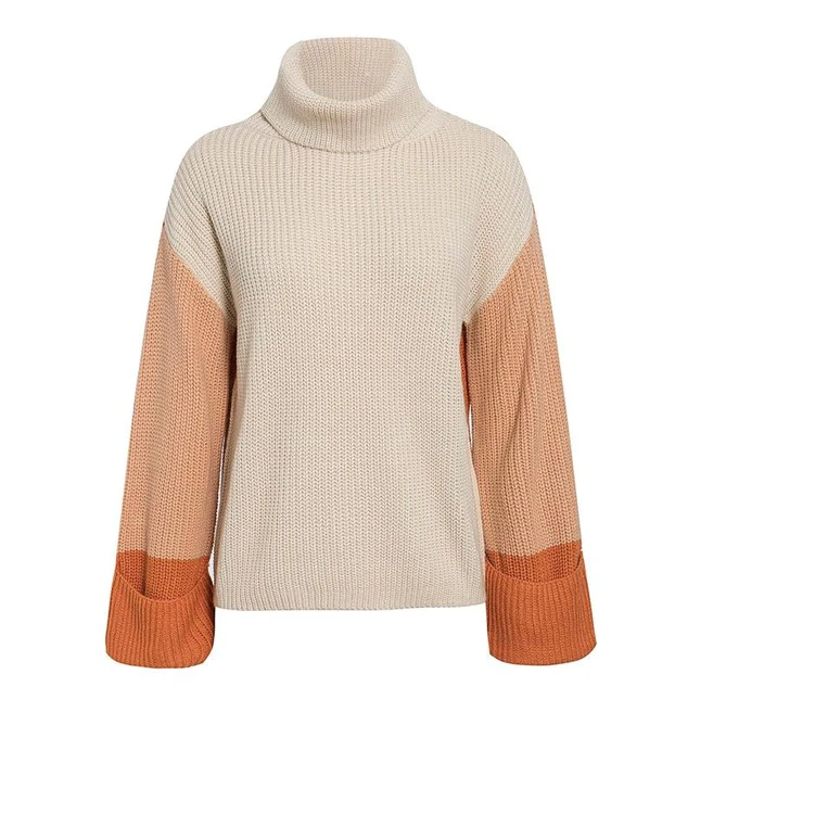 Dierdre Colorblock Turtleneck Sweater