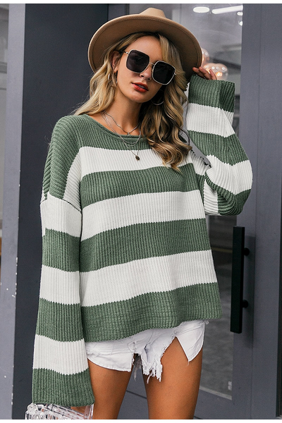 Elisha Oversized Striped Sweater