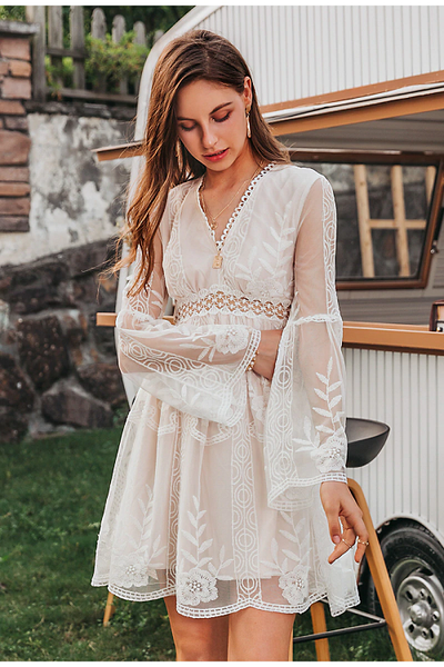 Elysse Lace Embroidery Dress