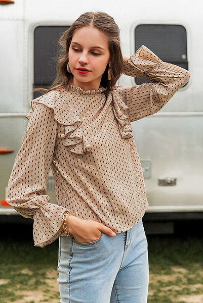 Emerich Vintage Ruffled Blouse