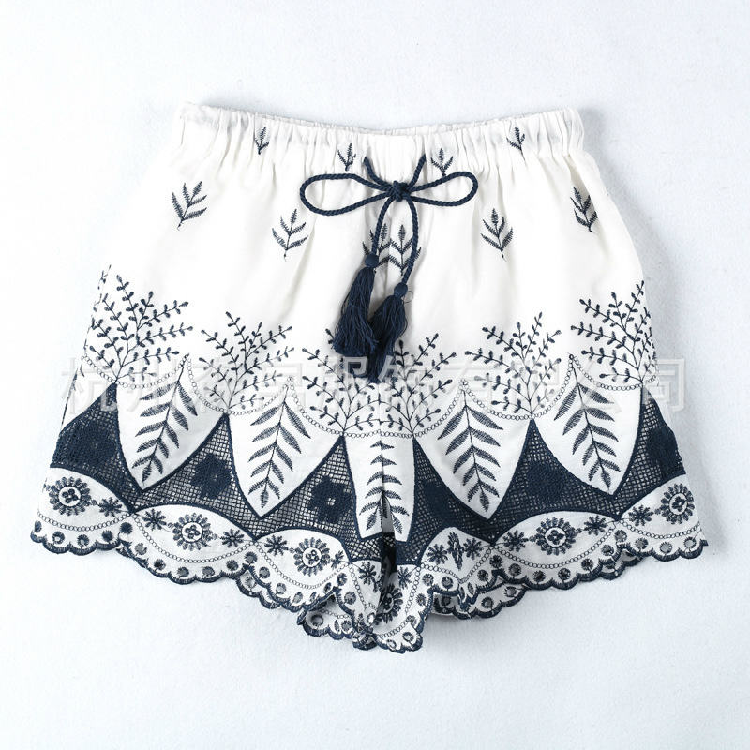 Etna Tasseled Embroidered Shorts