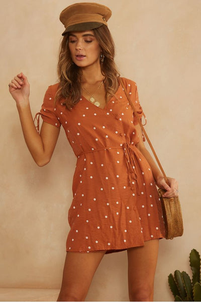 Finley Dotted Wrap Dress