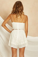 Load image into Gallery viewer, Aurelie Lace Eyelet Romper