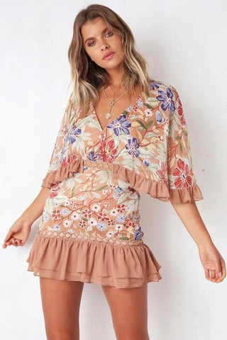Valentine Floral Mini Dress
