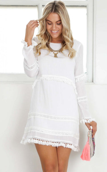 Carmina Tassel Trim Dress