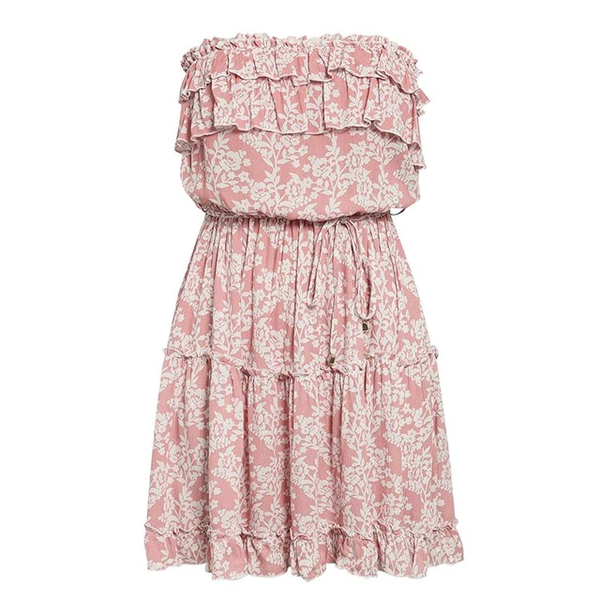 Isabelli Ruffled Strapless Dress