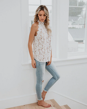Load image into Gallery viewer, Kira Halter Neck Lace Top