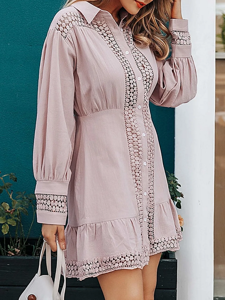 Kora Meshed Shirt Dress