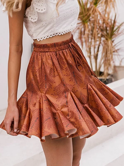 Laiza Ruffled Mini Skirt