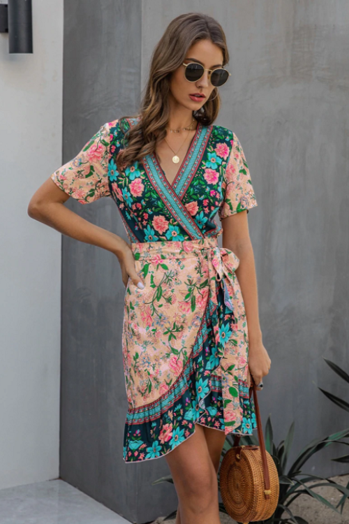 Larra Boho Wrap Dress