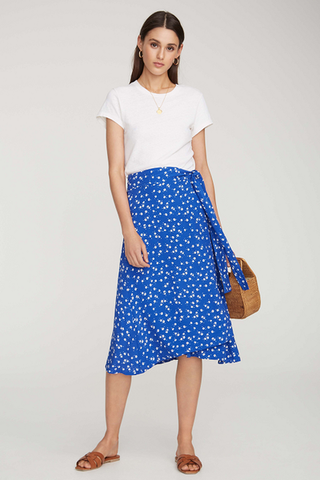 Leila Wrap Midi Skirt