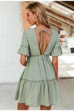 Load image into Gallery viewer, Leonora Open Back Frilled Dress