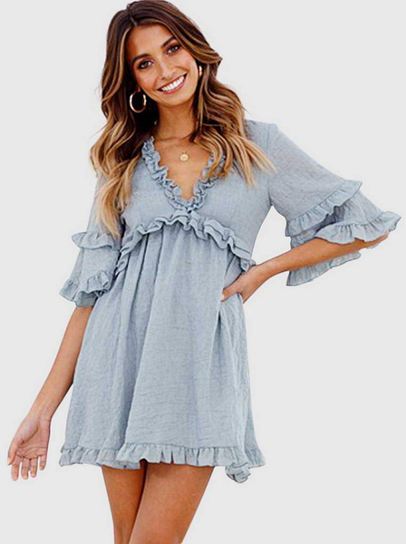 Linda Ruffled Babydoll Dress