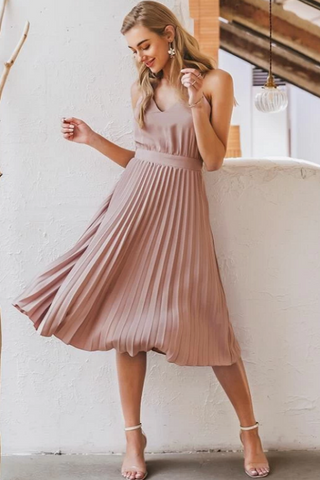 Loisan Pleated Midi Dress