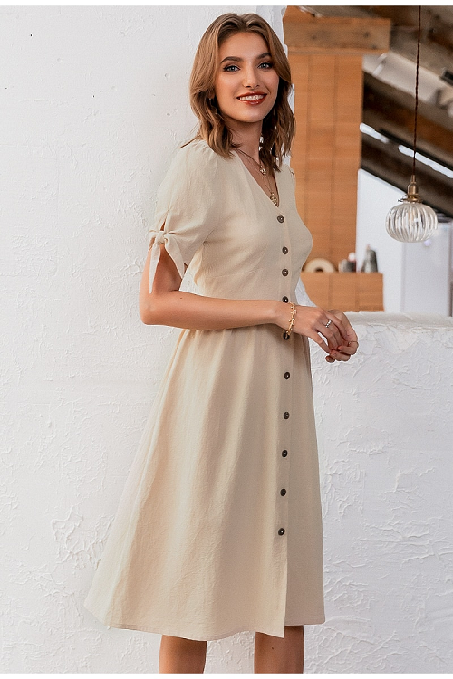 Lucila Button Down Midi Dress