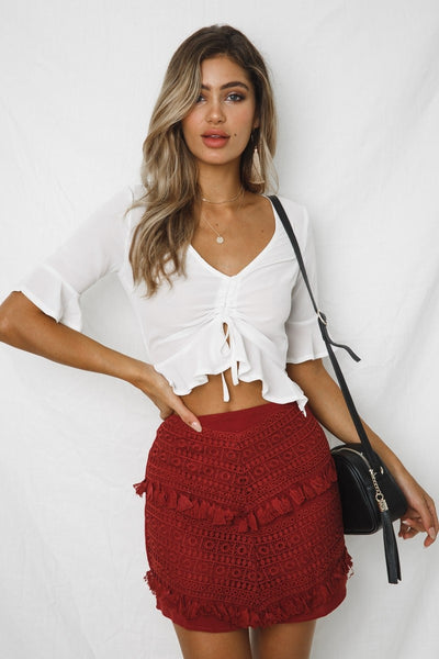 Mavis Ruched Crop Top