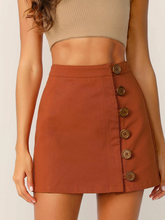 Load image into Gallery viewer, Marcy Buttoned A-Line Skirt