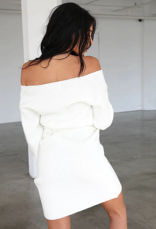 Marva Wrap Sweater Dress