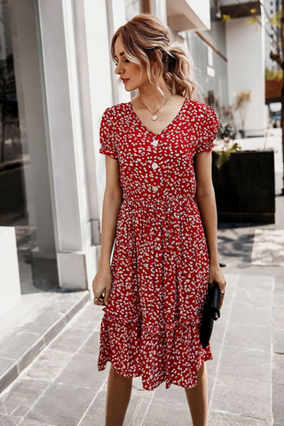Maurie Floral Midi Dress
