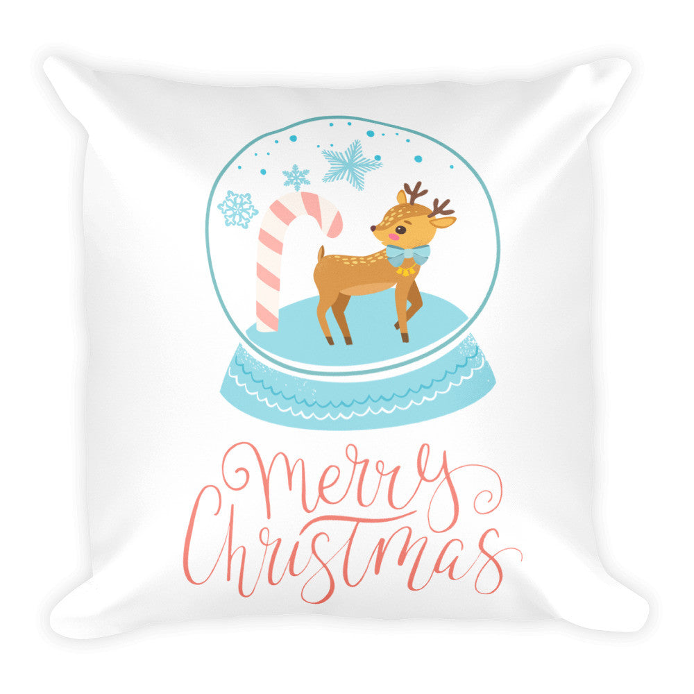 Snow Globe Square Pillow, Pillow, Square Shape, lovepeaceboho