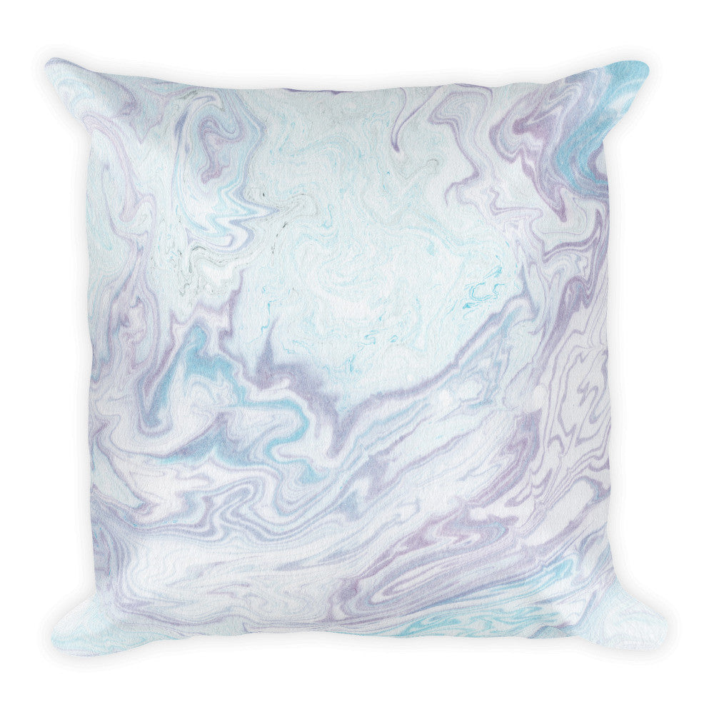 Marbling Square Pillow, Square Shape, Pillow, lovepeaceboho