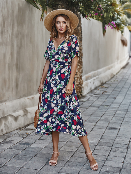 Soak Up The Sun Wrap Dress