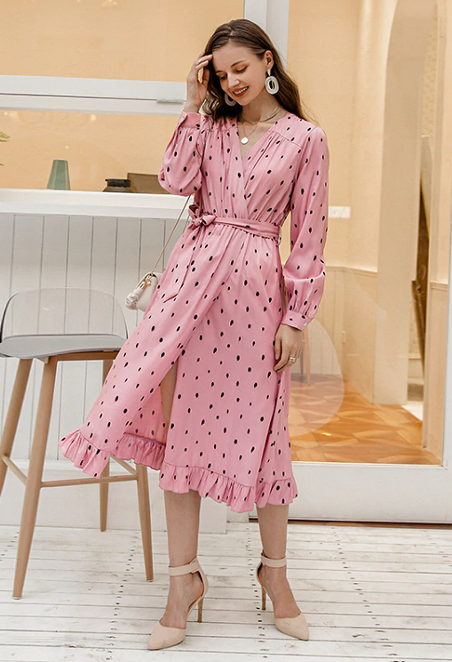 Nione Polka Dot Dress