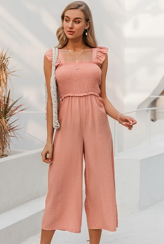 Olivia Shirred Bodice Jumpsuit