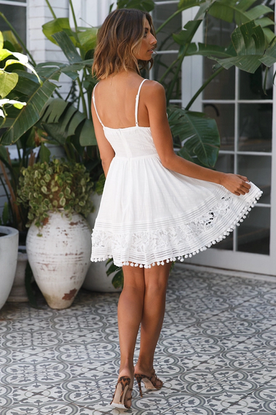 Ornusa Lace Mini Dress